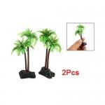 2x-Kunststoff-Plastik-Coco-Baum-Pflanzen-Wasserpflanzen-Aquariumpflanze-fr-Aquarium-Fisch-Tank-0