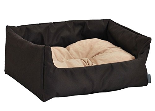 hundebett hundekorb aruba 100 polyester braun ii m 70cmx60 cm w204 10 haustier. Black Bedroom Furniture Sets. Home Design Ideas