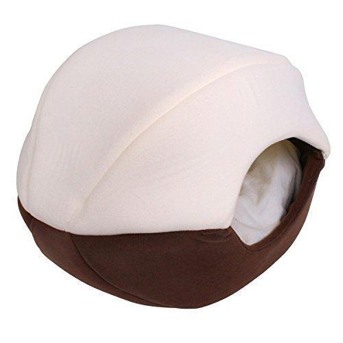 katzen hunde h hle bett katzenbett hundebett schlafplatz braun 40x40x50 cm oc00503 haustier. Black Bedroom Furniture Sets. Home Design Ideas