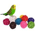 10-Rattan-Kugeln-Bird-Toy-DIY-Zubehr-Spielzeug-fr-Papageien-Wellensittiche-Sittiche-Nymphensittiche-Sittiche-Unzertrennliche-Aras-African-Greys-Kakadu-Amazon-Kfig-Teil-zufllige-Farbe-0