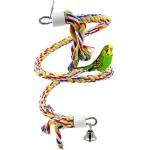 Vgel-Spielzeug-Rusee-Parrot-climbing-Rope-Sling-Schaukel-Spielzeug-Spirale-Stehen-seil-Mittlere-Regenbogen-Cotton-Rope-Parrot-mit-Glocke-0