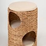 animal-design-Katzen-Tonne-Katzen-Baum-kuschelige-Katzenhhle-Katzen-Schlafplatz-Katzen-Turm-Katzen-Hocker-Wave-aus-Wasserhyazinthe-mit-3-Kissen-0