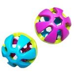 2-x-Kunststoff-Glocken-Ball-Spielzeug-fr-kleine-Vgel-Papageien-Sittiche-Wellensittiche-Nymphensittiche-Kaninchen-Hamster--zufllige-Farbe-0