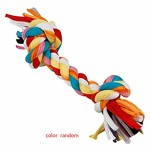 Bomcomi-Baumwolle-Doppel-Knoten-geflochtenen-Seil-Bunte-Knochen-Tug-Hund-Kauen-Spielzeug-Pet-Woven-Molar-Zubehr-0