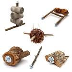 6-teiliges-Schredder-und-Knabber-Set-fr-Vgel-Basisausstattung-fr-Vogelhalter-Wellensittich-Spielzeug-Vogelspielzeug-Nymphensittich-0