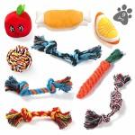 ASANMU-Hundespielzeug-9-Stck-Kauspielzeug-Welpenspielzeug-Hund-Spielzeug-Set-Baumwollknoten-Spielset-Seil-Interaktives-Spielzeug-fr-Welpen-Kleine-und-Mittlere-Hunde-fr-Zahnreinigung-Geeignet-0