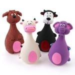 Chiwava-4-STCK-13-cm-Quietscher-Latex-Hund-Spielzeug-gro-Bauch-Tier-Familie-Welpen-Interaktive-Spielen-Assorted-Farbe-0