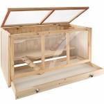 TecTake-403230-Nagerkfig-aus-Holz-mit-Huschen-groe-Bewegungsfreiheit-durch-mehrere-Etagen-aufklappbares-Dachgitter-Schaufenster-aus-Plexiglas-herausnehmbare-Schublade-0